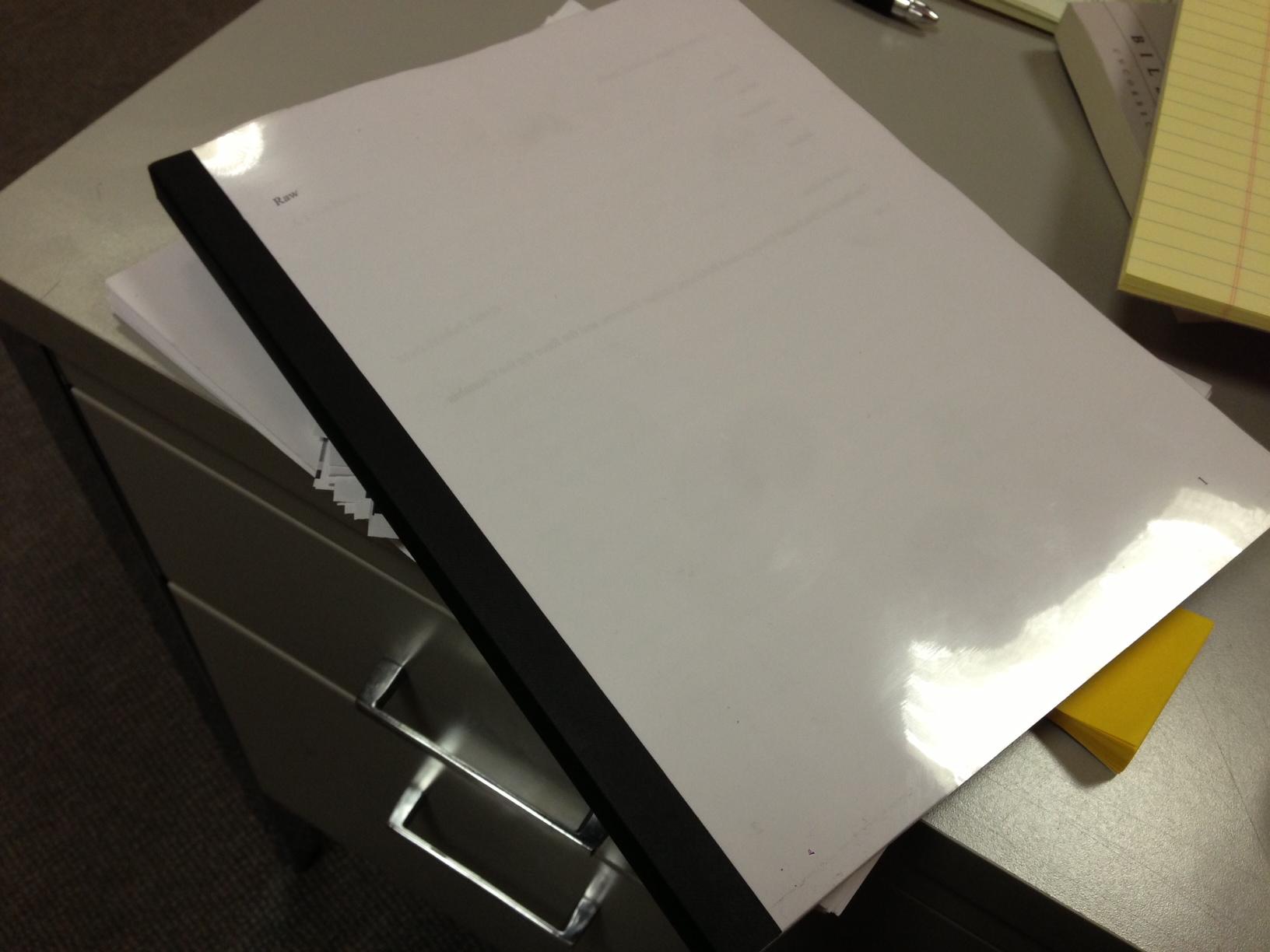 A bound photocopy