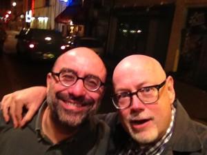 MHS and Parisian bookseller extraordinaire, Sebastian Wespiser are drunk.