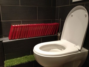 The toilet at bistro Strobi