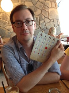 "My editor, Jamison Stoltz, doesn't get to yell ""bingo!"""